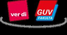 Logo: Eine starke Gemeinschaft - ver.di und GUV/FAKULTA