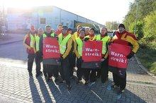 Warnstreik bei DHL-Delivery Neubrandenburg