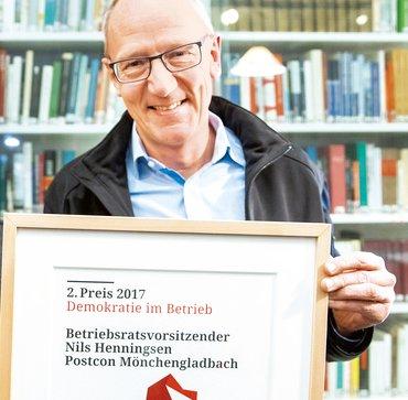 Nils Henningsen, Betriebsratsvorsitzender von Postcon in Mönchengladbach