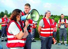 Warnstreik in der Logistik in Sachsen, Sachsen-Anhalt, Thüringen im Juli 2017.