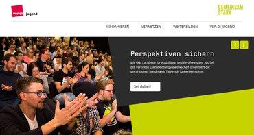 Website der ver.di-Jugend