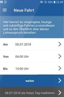 ver.di-App zur mobilen Arbeitszeiterfassung und Lohnberechnung