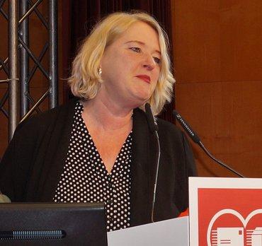 Andrea Kocsis auf der Konferenz des Bundesfachbereiches