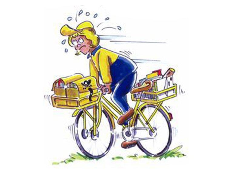 unzufriedene Fahrradzusteller*in