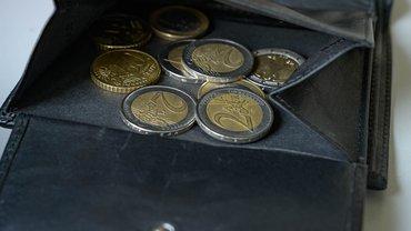 Bild eines Portemonnaie mit Münzen