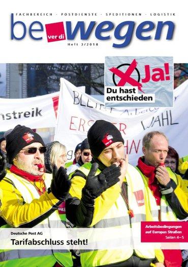 Titelseite bewegen 3/2018 mit Demonstrierenden